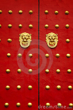 Free Chinese Door Stock Image - 10322161