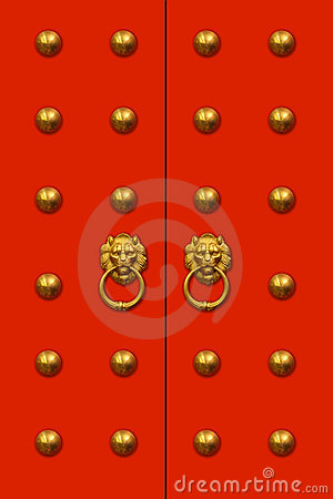 Free Chinese Door Royalty Free Stock Photo - 1925995