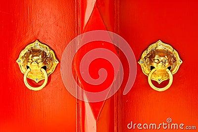 Chinese door handle knocker