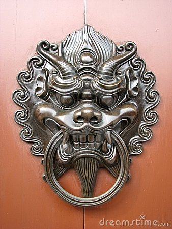Free Chinese Door Knocker Stock Photo - 15724120