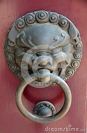 Free Chinese Door Knocker Or Handle Royalty Free Stock Image - 5965116