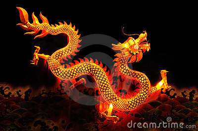 Chinese dragon lantern