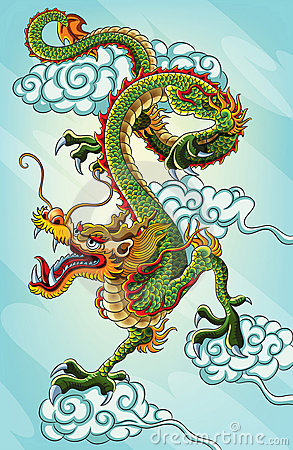 Free Chinese Dragon Painting Royalty Free Stock Images - 22533949