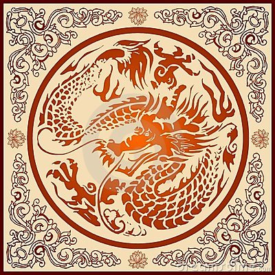 Chinese Dragon Pattern Stock Image - Image: 11849901