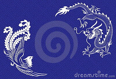 Chinese Dragon and Phoenix