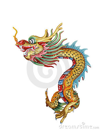 Free Chinese Dragon Statue Stock Image - 21547001
