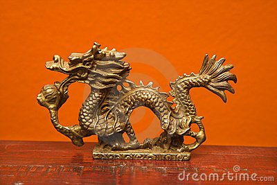 Chinese dragon statue.