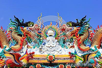 Chinese dragon statue art