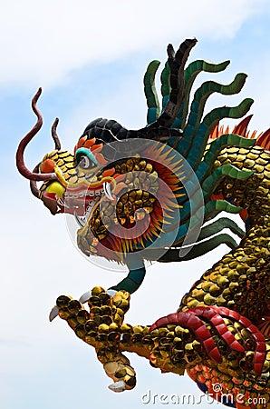 Free Chinese Dragon Stucco Royalty Free Stock Photos - 55232618