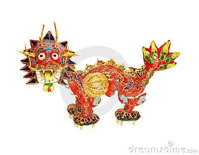 Chinese dragon on white. Symbol of 2012.