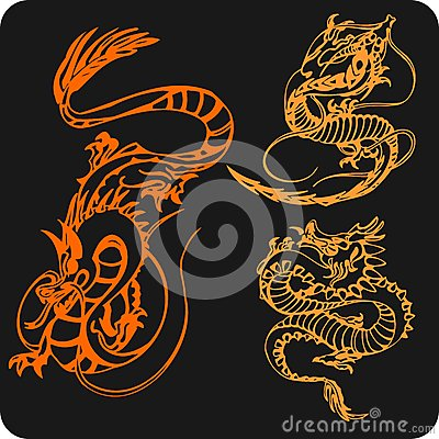 Chinese Dragons - vector set.