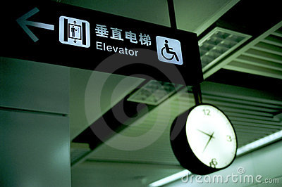 Chinese elevator indication