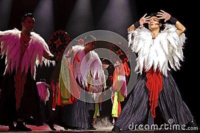 Chinese ethnic dance of Yi nationality Editorial Stock Image