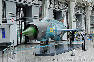 Chinese F-7III Jet Fighter Editorial Image