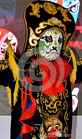 Chinese face changing as traditional stage drama Editorial Stock Image