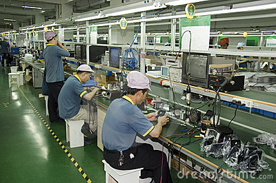 Chinese factory for CCTV camera Editorial Stock Image
