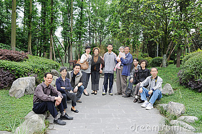 Chinese family Editorial Photo