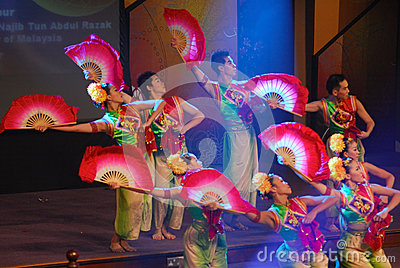 Chinese Fan Dance Editorial Image