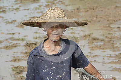 Chinese Farmer Editorial Stock Photo
