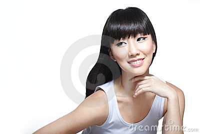 Chinese fashion beauty model looking radiant
