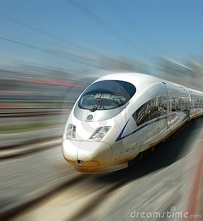 Free Chinese Fast Train Stock Images - 19096804