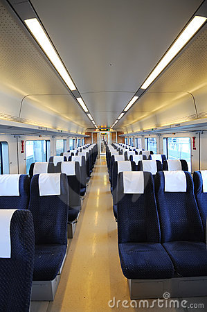 Chinese fast train interior