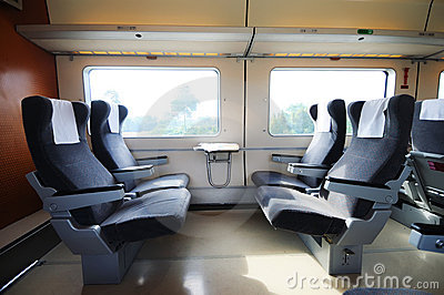 Chinese fast train interior