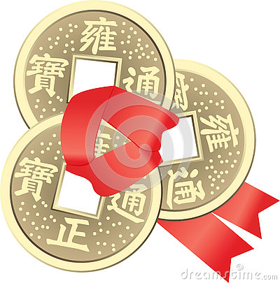 Free Chinese Feng Shui Coins For Wealth And Success Royalty Free Stock Photography - 78588737