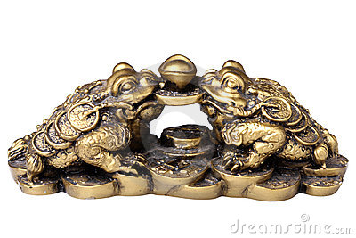 Chinese feng shui frogs