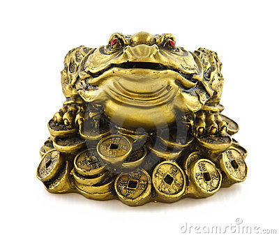 Chinese feng shui lucky money frog for good luck stock - Feng shui good luck coins ...