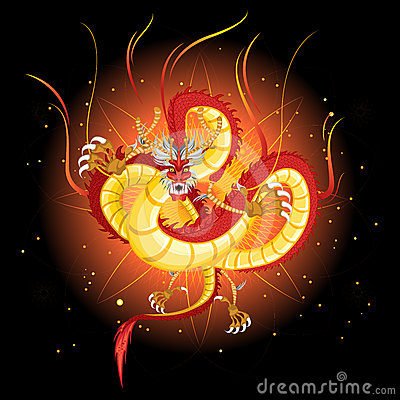 Chinese Fire Dragon New Year