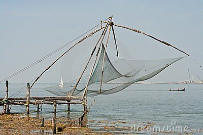 Chinese fisher net in Cochin in Kerala, India