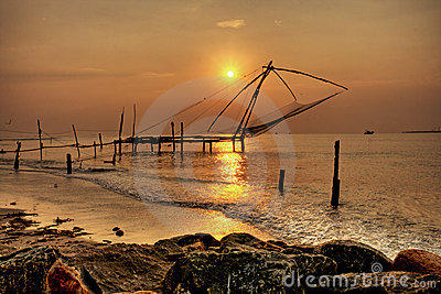 Chinese Fishing Nets, Cochin Fort, Kerala, India