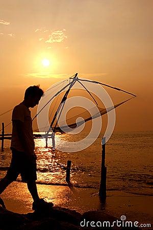 Chinese Fishing Nets. Fort Cochin, Kerala, India