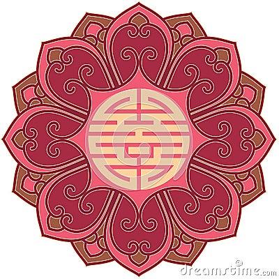 Oriental Chinese Flower Design Element Oriental Flower Design