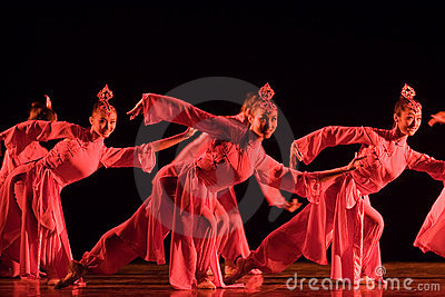 Chinese  folk dance Editorial Photography