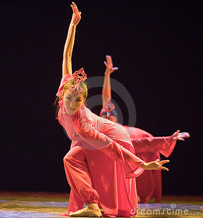 Chinese folk dance Editorial Stock Photo