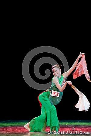 Chinese folk dance-fan dance