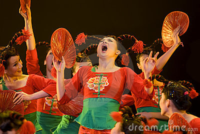 Chinese folk group dance Editorial Photography