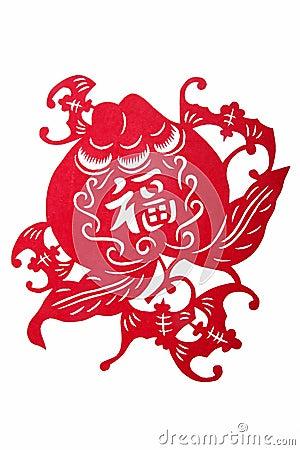 Chinese folk paper - Fu.