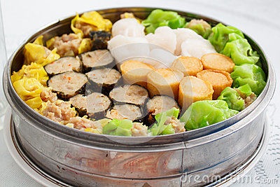 Chinese food appetizer mixed dim sum stock photo image for Appetizer chinese cuisine