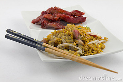 Chinese Food - Boneless spare ribs with Pork fried