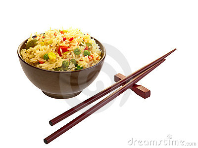 Chinese Food And ChopsticksStock Photography Image