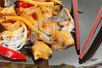 Chinese food close up