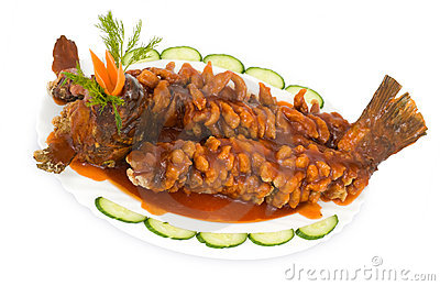 Chinese food. Fried carp