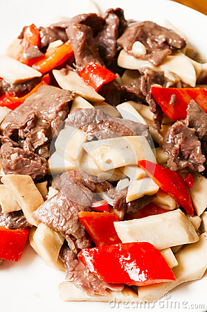 Chinese food--Mushroom and beef
