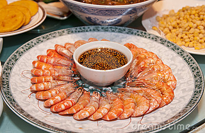 Chinese food of  shrimp