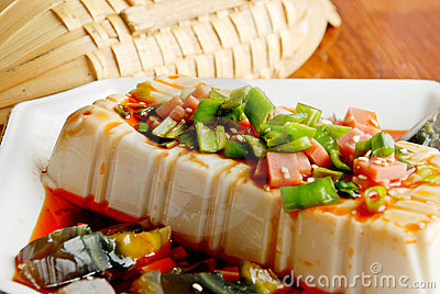 Chinese food- tofu and preserved eggs
