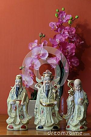 Free Chinese Fu Lu Shou Royalty Free Stock Photo - 47160995