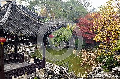Chinese garden in autumn